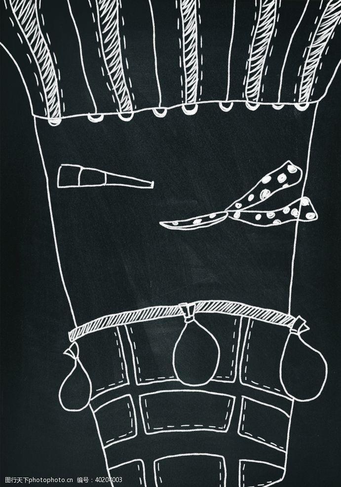 粉笔黑板画图片