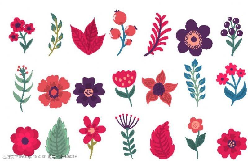 花背景花卉图片