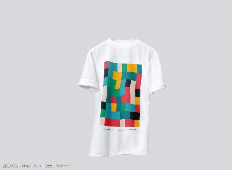 3d立体字T恤样机图片