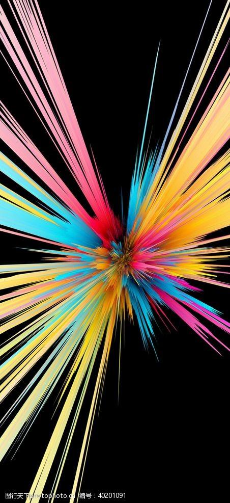 发射爆炸肌理图片