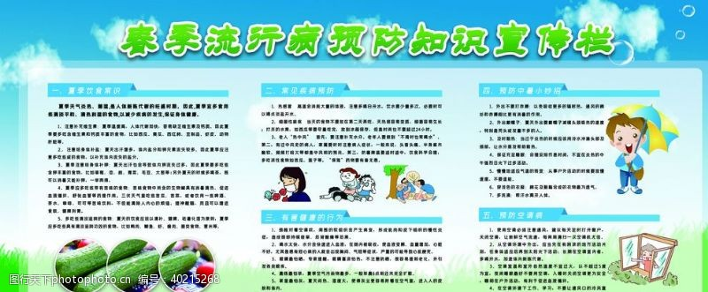 流感春季流行病知识宣传图片