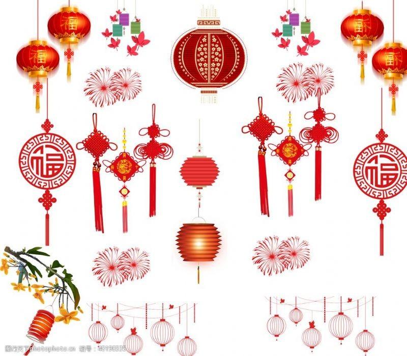 设计图案灯笼中国结图片