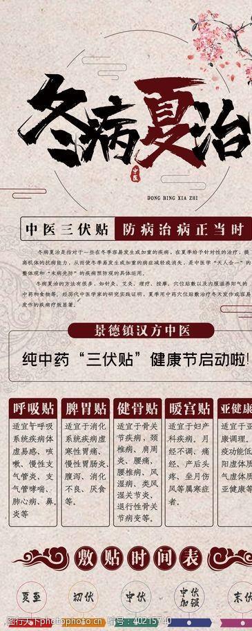 中医海报冬病夏治图片