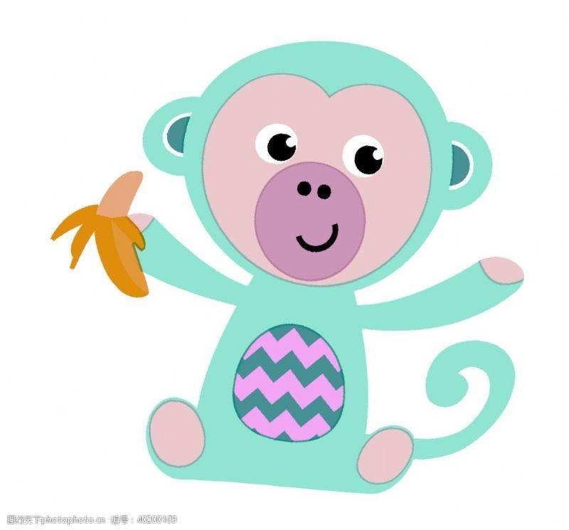 花布猴子图片