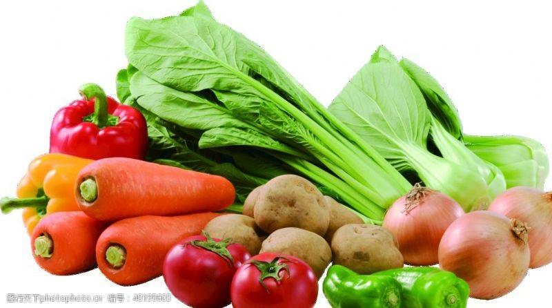 包菜胡萝卜青椒洋葱大白菜透明素材图片