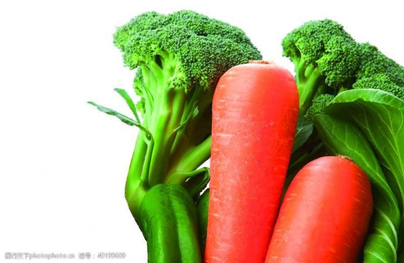 青菜胡萝卜蔬菜花椰菜青椒免抠素材图片
