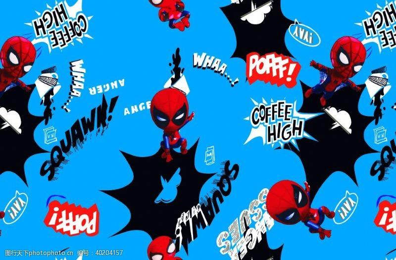 可爱底纹卡通泼墨蜘蛛侠图片