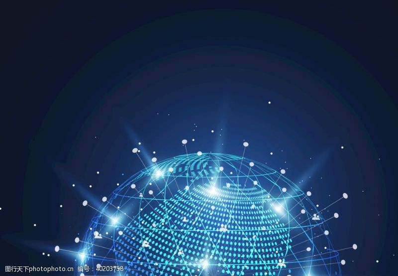 蓝色地球网络科技信息EPS图片