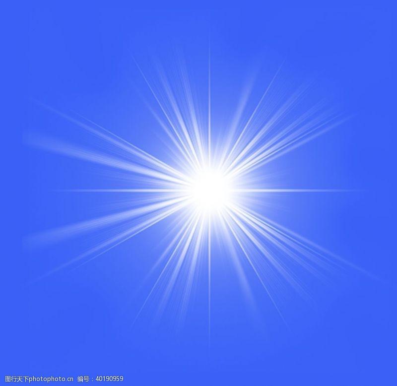发射太阳光芒图片