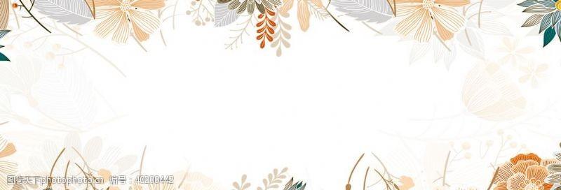 雨林小清新树叶背景图片