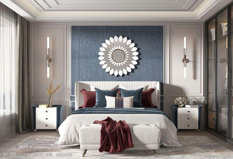 壁灯主卧室效果图图片