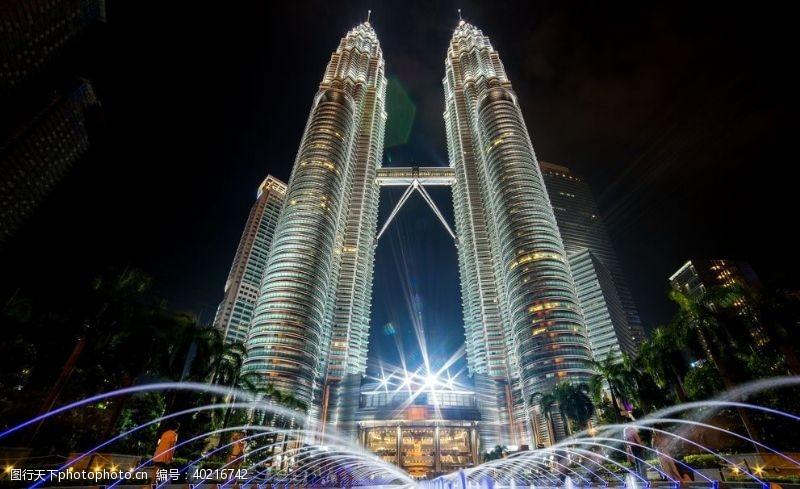塔楼吉隆坡石油双塔图片