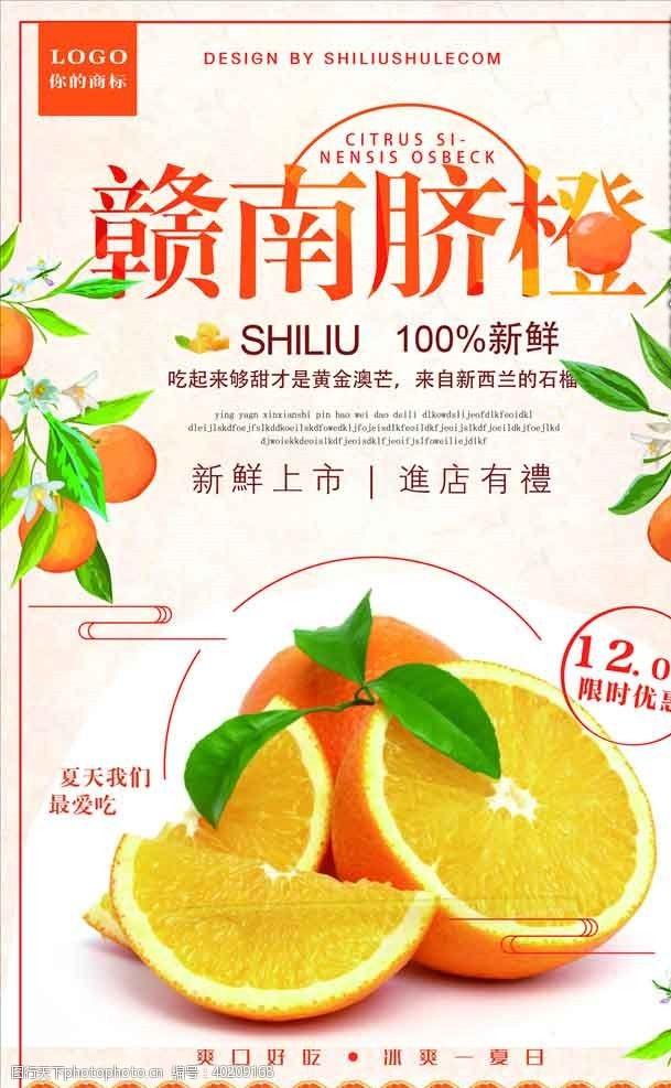 水果展架蜜橙海报图片