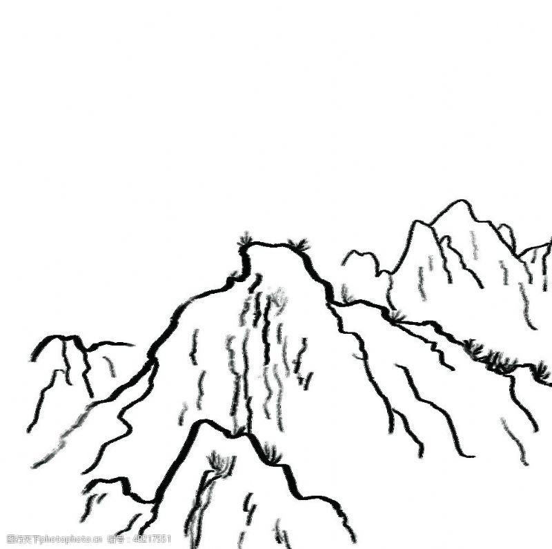 山手绘素材图片