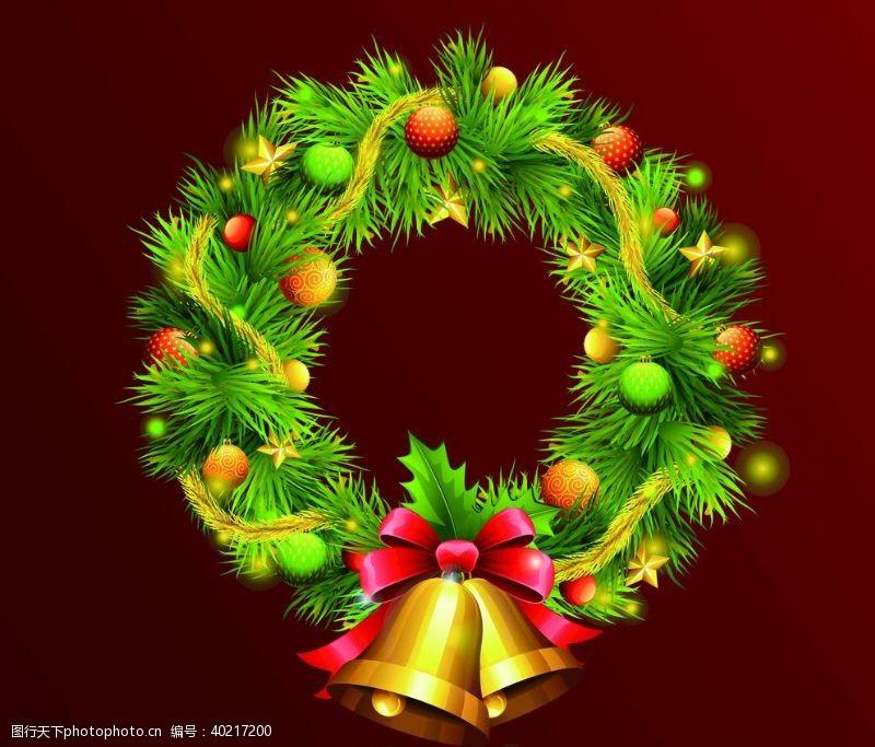 圣诞节装饰品圣诞花环圣诞素材图片