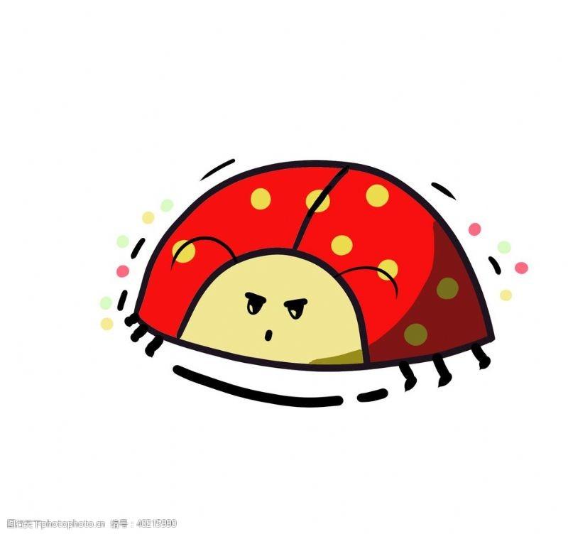 动物漫画手绘可爱瓢虫图片