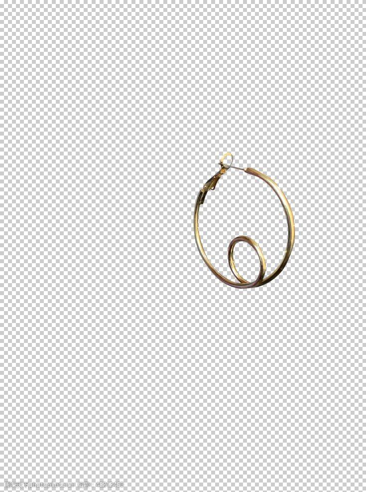 双环型耳环图片
