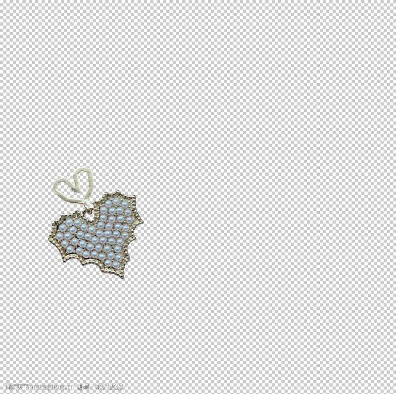耳环心型耳坠图片