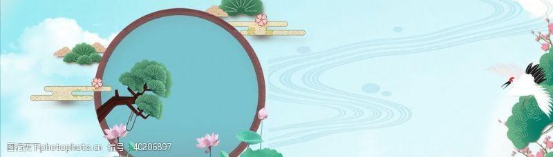 铁观音中国风电商海报横幅图片