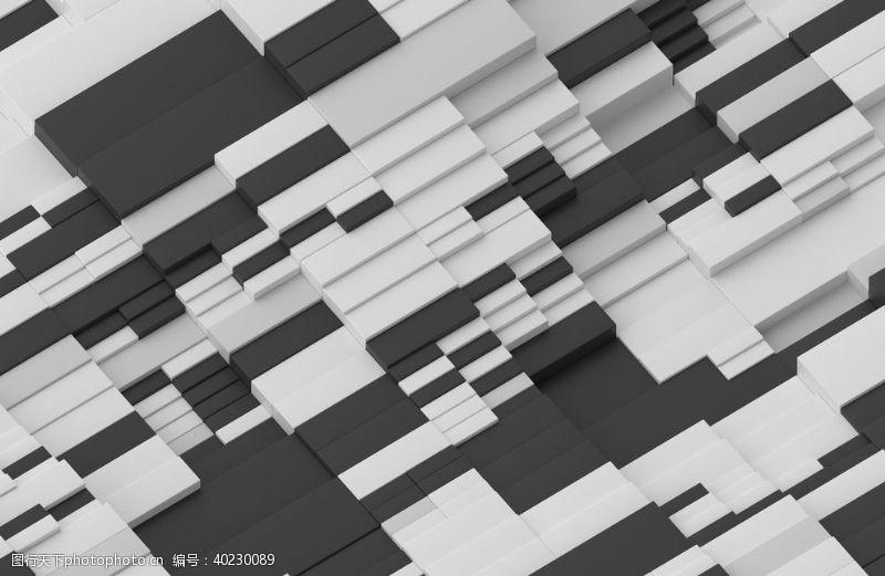 矩形的3D抽象结构图片