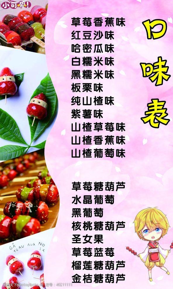 卡通小人冰糖葫芦价格表图片