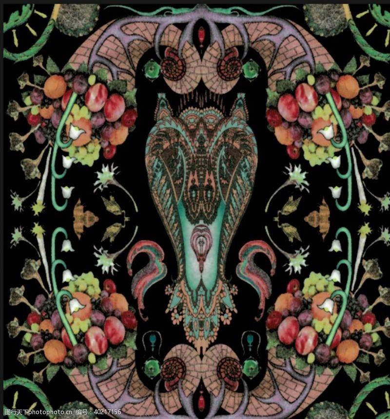服装素材抽象方巾图片