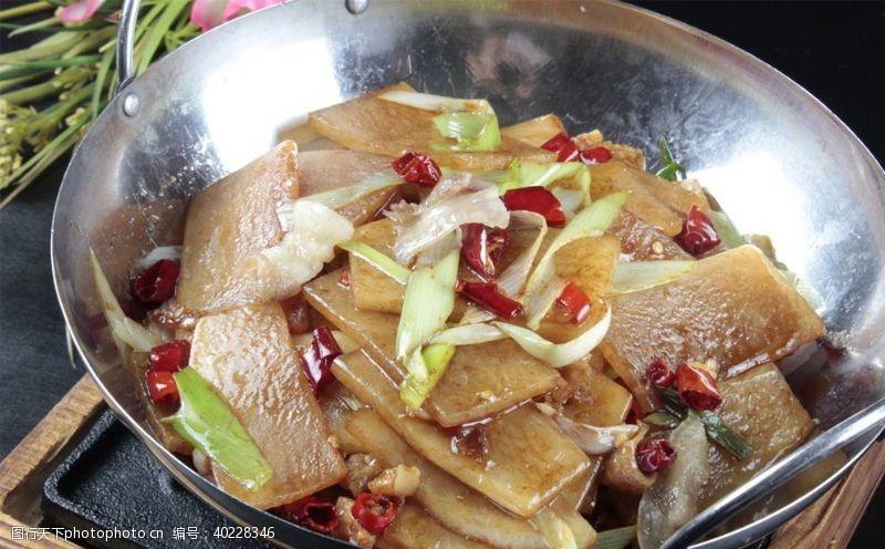 干锅萝卜烧肉图片