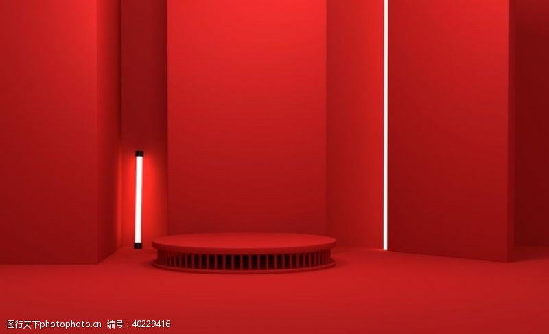 淘宝广告红色礼物图片