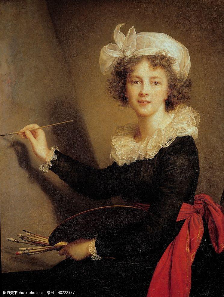 西方绘画中的肖像图片