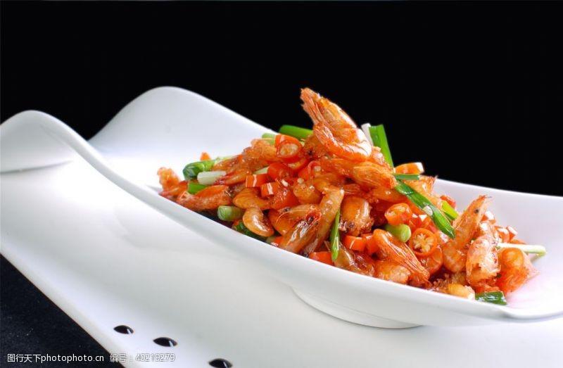 韭菜小河虾图片