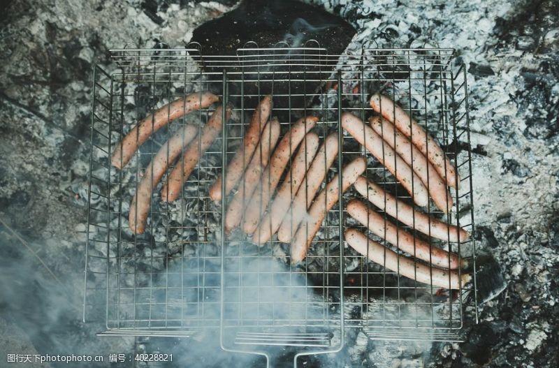 香肠烤肠图片