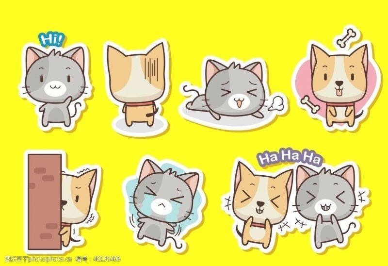 创意插画猫周边图片