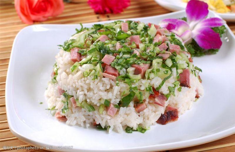 青菜腊肉饭图片