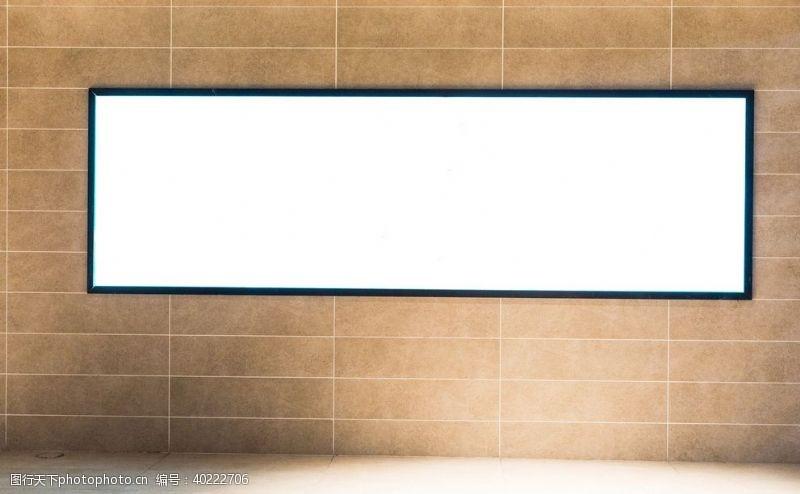 商业街商场空白广告位灯箱图片