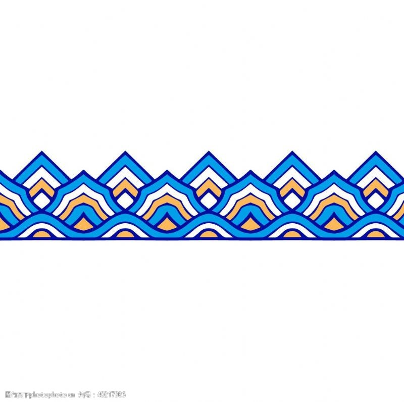 民族花纹山水花纹图片