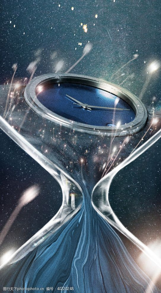钟表时间概念肌理图片