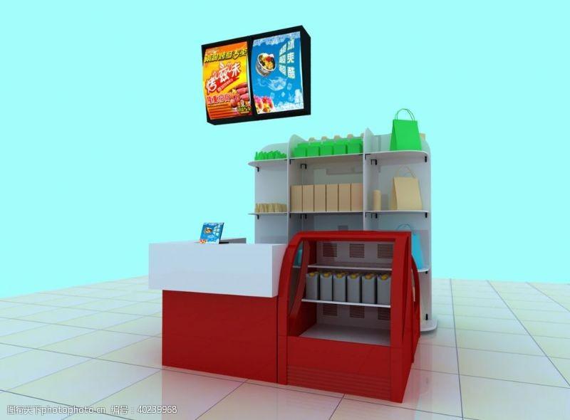 面包店食品店专柜图图片