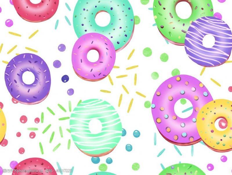 童装印花甜甜圈图片