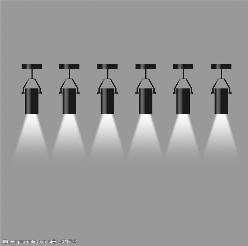 ps素材设计筒灯射灯图片