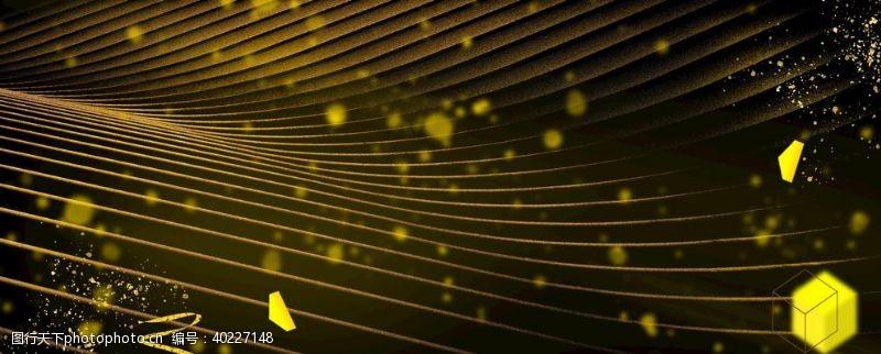 艺术品线条纹理几何黑金背景图片