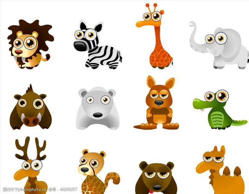 动画设计小动物可爱插画图片