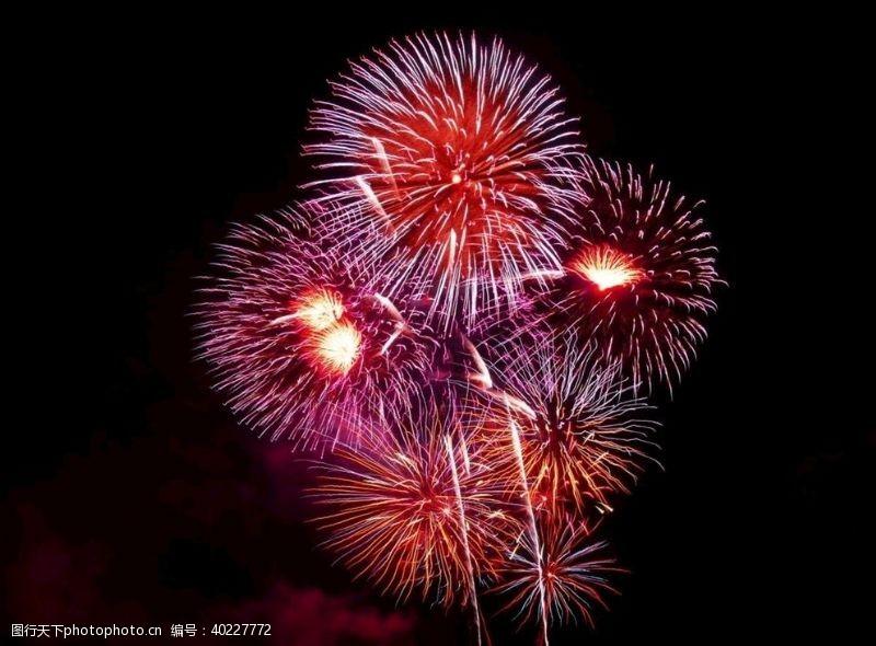 天空素材新年烟花图片
