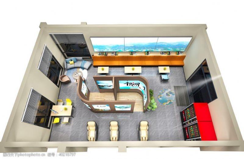 室内模型休闲馆图片