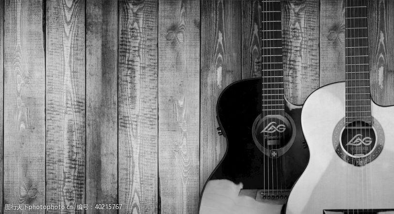 音乐素材音乐吉他背景图片