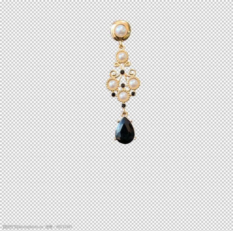 耳环珠子宝石耳坠图片