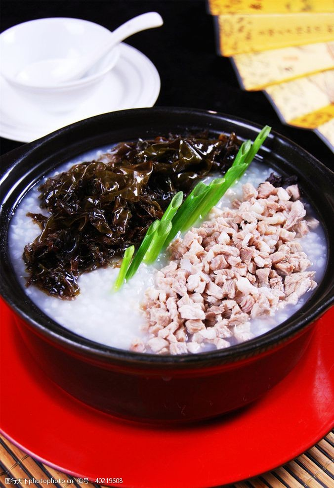 紫菜肉沫粥图片