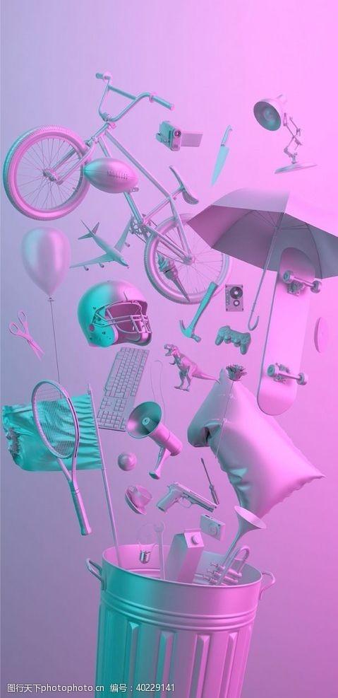 淘宝广告紫色图片