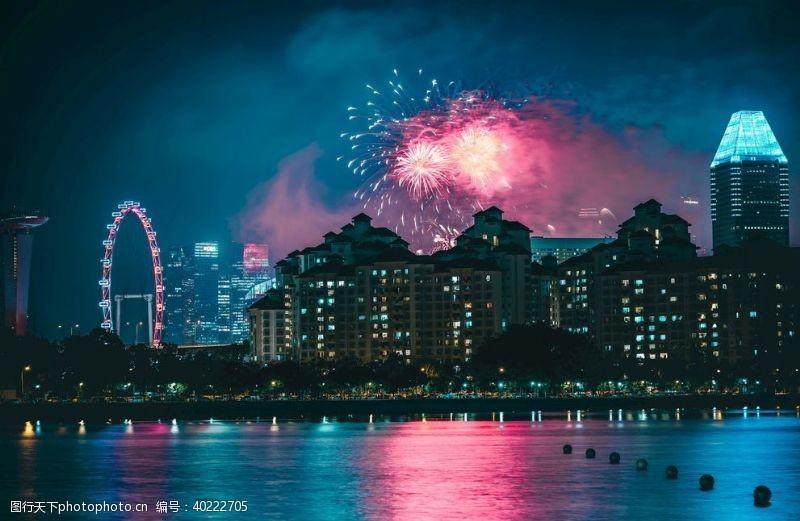 城市景观城市唯美夜景色彩图片