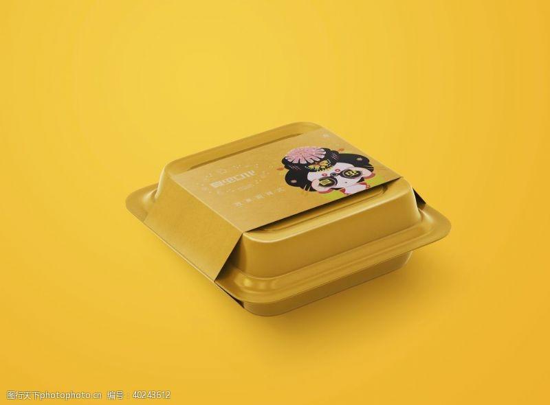 礼物盒打包盒样机图片