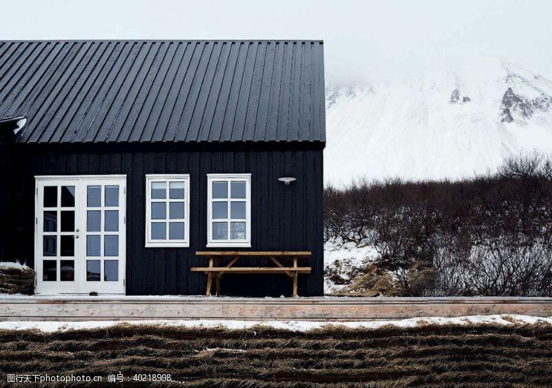 优美冬季北欧风景图片